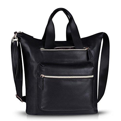 Estarer Womens PU Leather Shoulder Bag Purse for Work Travel Tote Hobo Handbag Crossbody Bag by Estarer