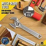 NirfordTools 8-Inch Adjustable Wrench