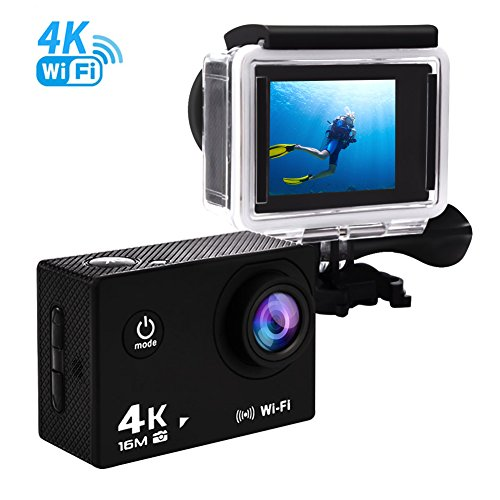 Sports Action Camera 4K ultra HD Waterproof WIFI Camcorder 170 Degree Wide Angle 16MP Underwater Digital Camera Action Cameras YISENCE