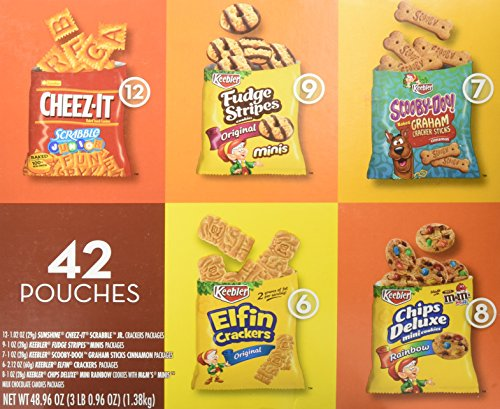 Keebler Cookies and Cheez-It Crackers Snack Packs Variety Pack, 42 Count Only $10.02
