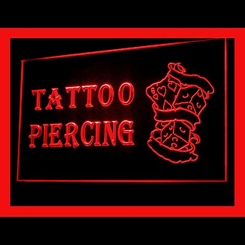 Display Dice (100057 Tattoo Piercing Dice Lucky Poker Display LED Light Sign)