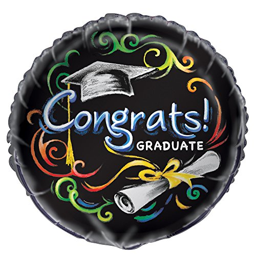[해외]18 호일 칠판 졸업 풍선/18  Foil Chalkboard Graduation Balloon