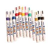 Mural Art 12 Colors Waterproof Metal Glass Fine Paint Oil Based Art Marker Pen