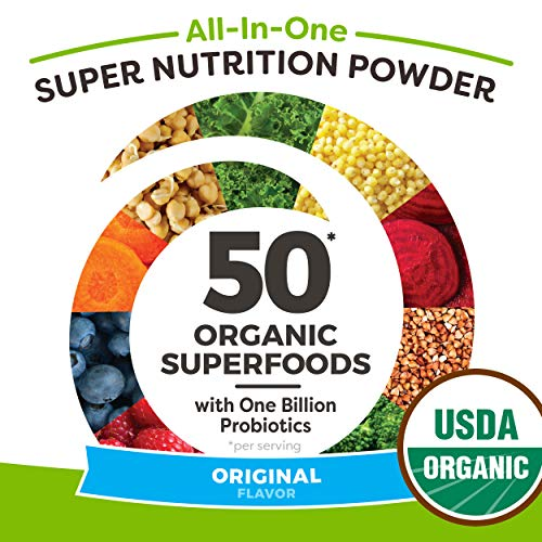 Orgain Organic Green Superfoods Powder, Original - Antioxidants, 1 Billion Probiotics, Vegan, Dairy Free, Gluten Free, Kosher, Non-GMO, 0.62 Pound (Packaging May Vary) by Orgain (Image #8)