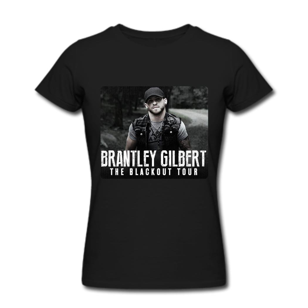 1b18a97fbfe Woman s Brantley Gilbert Poster T shirts Black L at Amazon Women s Clothing  store