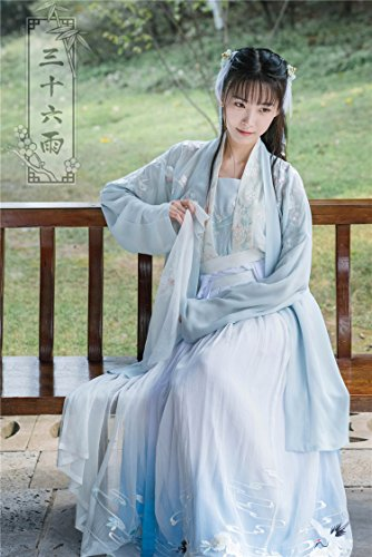 Generic Heavy embroidered Chinese clothing Chinese wind classical retro ladies temperament waist-breasted jacket skirt suit literary fairy for women girl by Generic (Image #7)