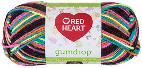 (Red Heart Yarn Red Heart Gumdrop Licorice,)