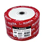 RiDATA 700MB 52X CD-R Inkjet White Hub Printable 50 Packs Disc Model R80JS52-RD-IWN50