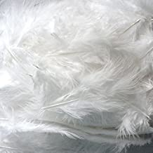 C-Pioneer Pack 200 Fluffy Marabou Feathers Card Making Embellishments for Arts and Crafts Decoration (White)
