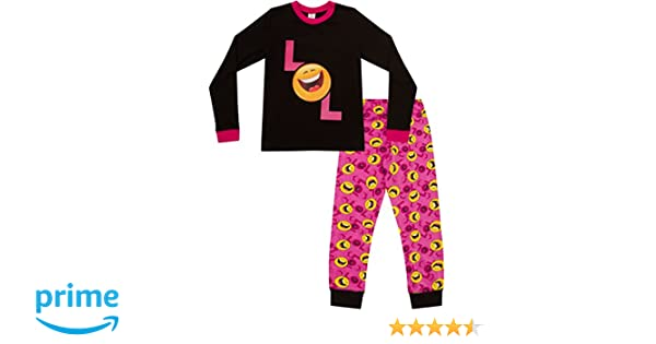 Lol Smiley Face Emoji Laugh Out Loud - largo de la niña PJ pijama 9 A 15 años: Amazon.es: Ropa y accesorios