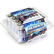 ACDelco 9 Volt Batteries, Alkaline Battery, 12 Count