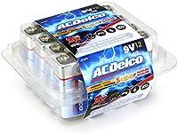 ACDelco - Pilas alcalinas de 9 V, 12 unidades