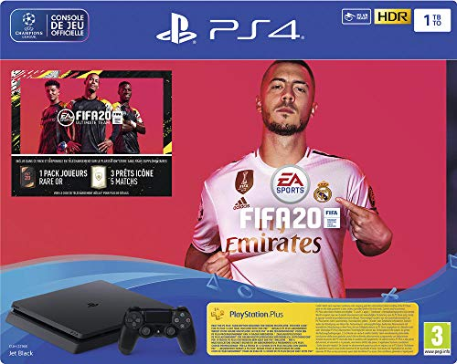 PS4 Slim 1 To F Noir + FIFA 20 + PS Plus 14 jours (Digital ...