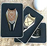 Divot Tool Golf Ball Marker in Custom Metal Gift Box REAL Wood Personalized Golfers Markers
