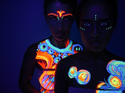 Neon Glow Blacklight Body Paint #1 Premium Set (6 pack of 2 oz. bottles) Glows Brighter, UV Reactive- Safe and Non-Toxic! Fluorescent Set Dries Quickly, Goes on Smooth, Not Clumpy by Neon Glow (Image #7)