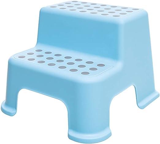 Taburete de Paso Niño pequeño Hogar Escalera de plástico para niños bebé Antideslizante Escalera Baño para niños Lavabo pequeño ZHAOSHUNLI (Color : Blue Gray): Amazon.es: Hogar