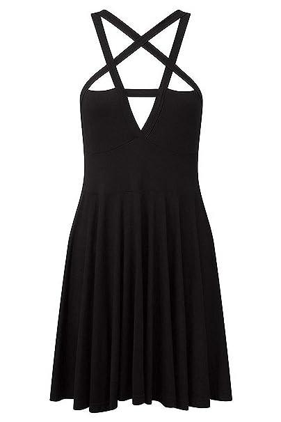 Amazon.com: Vestido de moda gótico vintage romántico casual ...