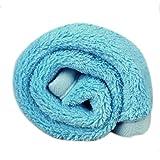 Franterd Pet Dog Puppy Cat Soft Cushion Pad Bed Mat Fleece Blanket Quilt (Blue)