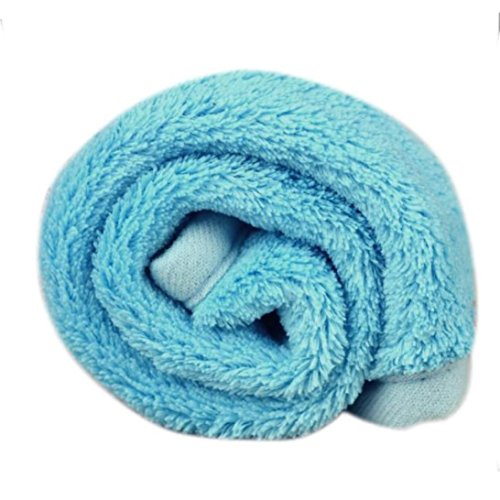 (Franterd Pet Dog Puppy Cat Soft Cushion Pad Bed Mat Fleece Blanket Quilt (Blue))