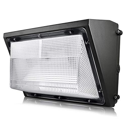 Luxrite 60W LED Wall Pack Light Fixture, 7085 Lumens, 250W HID/HPS Equivalent, 5000K Bright White, DOB, 120-277V, Dimmable, Commercial and Residential Outdoor Lighting, IP65 Waterproof Rated