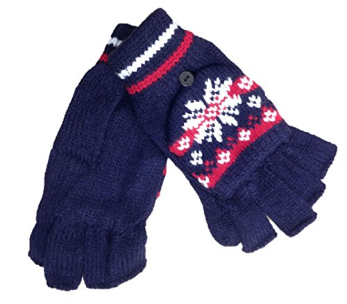 RockJock Women's Combo Mitt Gloves Ladies (One Size Fits Most) Navy/Red (Lady In The Navy Gloves)