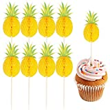 Supoo 50 Pack Pineapple Cupcake Toppers Party Supplies Toppers Food Picks Cupcake Picks Decoration