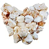 mookaitedecor 1 lb Bulk Natural Raw Stones Rough Crystals for Healing,Tumbling,Cabbing,Polishing,Wire Wrapping,Wicca & Reiki,White Opal