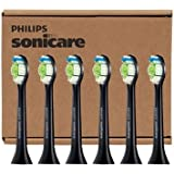 Philips Sonicare DiamondClean Standard Black Brush Heads HX6066/31, 6 Pack