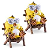 patio decor ideas Owl Solar Garden Decorations Figurine | Outdoor LED Decor Figure | Light Up Decorative Statue Accents for Yard, Patio, Lawn, or Deck | Weather Resistant | Great Housewarming Gift Idea (Yellow, 2 Pack)