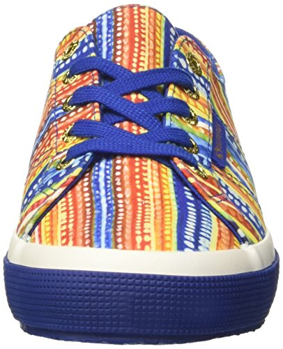 Superga 2750-sliponfabricfanplw, Basses Femme Multicolore (Multicolor Blue)