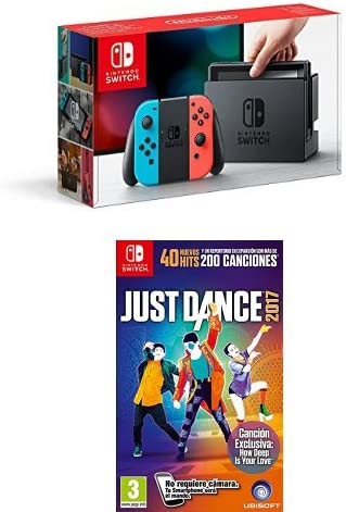 Nintendo Switch - Consola Color Azul Neón/Rojo Neón + Just Dance ...