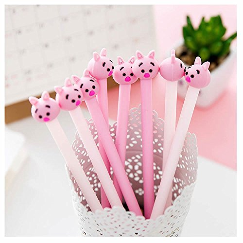 GOOTRADES 8 Pack Cute Pig Writing Gel Ink Pen for Office School Student ,0.38 mm -
