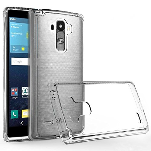 LG G Stylo case, LG LS770 case,LG G4 Stylus case,LG G Stylo H631 case,LG G Stylo MS631 case, Wtiaw Acrylic Hard Cover With Rubber TPU Bumper Hybrid Ultra Slim Protective for LG LS770 -YKL Clear
