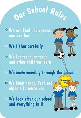 Upson Downs - RU104 School rules sign - 84cm x 58cm