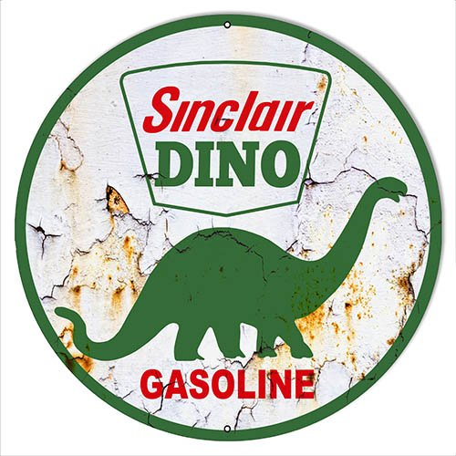 Sinclair Dino Vintage Reproduction Motor Oil Sign 24