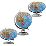 Children Table Decor Blue Globe Big Rotating Desktop Ocean Globe World Geography Earth
