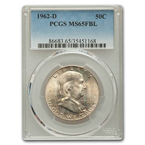 1962 D Franklin Half Dollar MS-65 PCGS (FBL) Half Dollar MS-65 PCGS