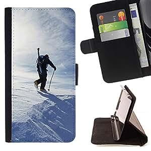 For Apple (5.5 inches!!!) iPhone 6+ Plus / 6S+ Plus Case , Esquí Invierno- la tarjeta de Crédito Slots PU Funda de cuero Monedero caso cubierta de piel