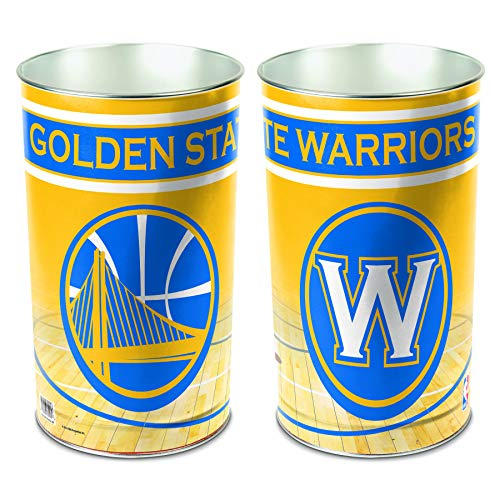 (WinCraft NBA Golden State Warriors Wastebasket Tapered, 15