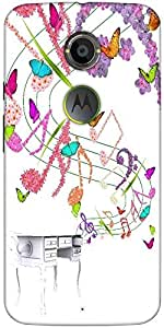 Snoogg Floral Background Designer Protective Back Case Cover For Moto X2