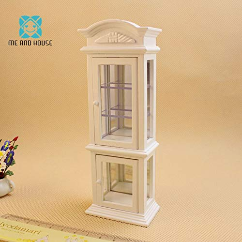 (Kiartten 1:12 Scale Furniture - Doll House Miniature Furniture Modern Wooden Wine Glass Display Cabinet Showcase 1 Pcs - Miniature Wooden Hangers)