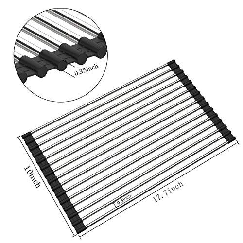 Roll Up Dish Drying Rack - Foldable Multipurpose Heat Resist