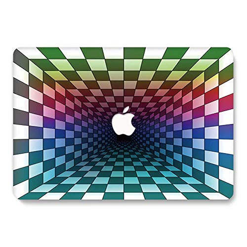 MacBook Pro 13 Case 2018 2017 2016 Model A1989/A1706/A1708, AJYX Matte Plastic Hard Case Shell Cover Compatible Newest MacBook Pro 13 Inch with/Without Touch Bar and Touch ID, 3D13 Kaleidoscope