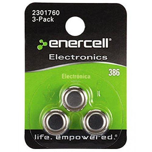 3-Pack RadioShack 386 1.55V//120mAh Silver-Oxide Bateries