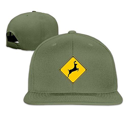 [Custom Unisex-Adult Jumping Deer Flat Billed Baseball Visor Cap ForestGreen] (Danica Patrick Costumes)