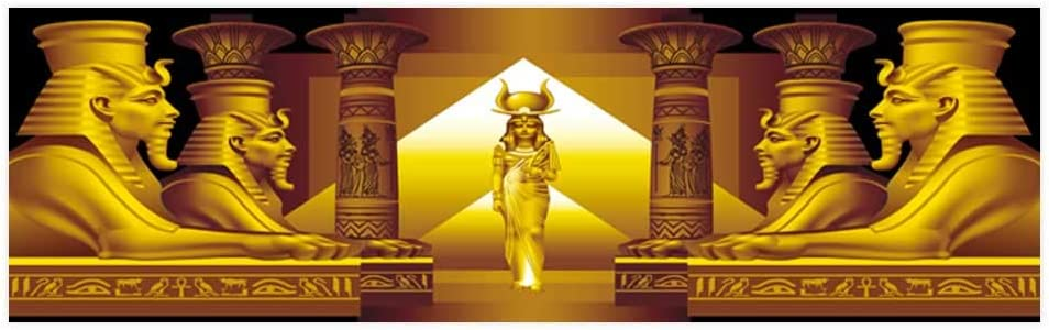 Amazon Com Dragonhome Aquarium Background Sticker The Egyptian Queen And Four Sphinx On A Black Background Aquarium Sticker Wallpaper Decoration L23 6 X H15 7 Pet Supplies
