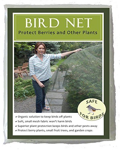Bird Net for Plant Protection -Soft Mesh Fabric -Bird Friendly -5 feet by 10 feet