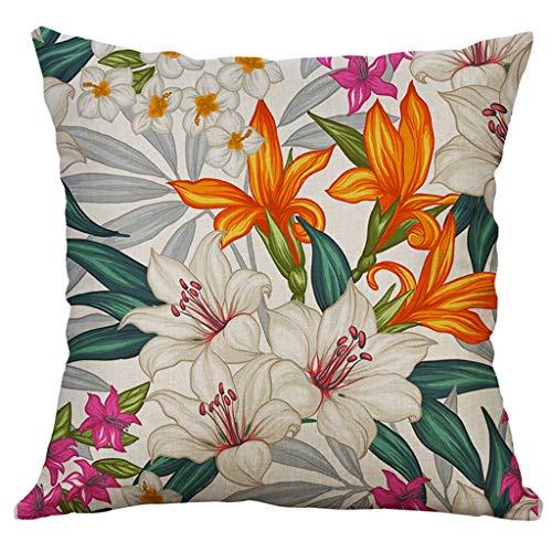 OrchidAmor Simple Linen Creative Lovely Pillow Cover Pillow Cover Car Pillow Cover 2019 New Fashion]()