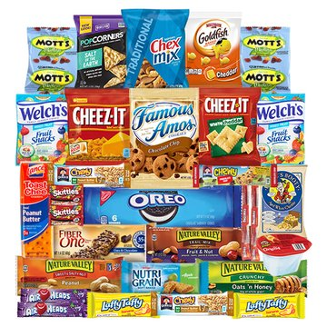 Snacks Care Package - Chips, Cookies, Candy Assortment Bundle Gift Pack and Variety Box (30 Count) by Veratify