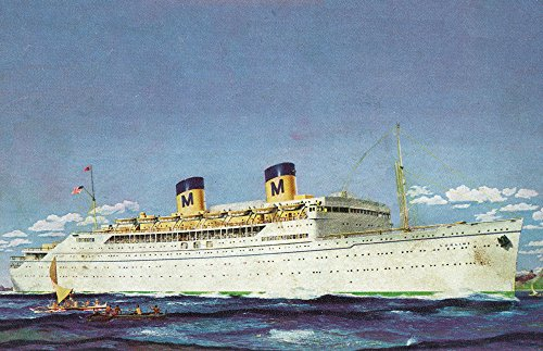 View of Matson Liner SS Lurline (24x36 SIGNED Print Master Giclee Print w/Certificate of Authenticity - Wall Decor Travel Poster)